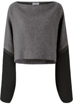 Amanda Wakeley Kuki Charcoal Kimono Sleeve Sweater