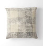 Rejuvenation Wool Plaid Tweed Pillow Cover - Gray