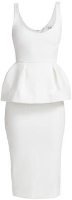 Cushnie Structured Peplum Pencil Dress