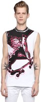 DSQUARED2 Skater Printed Cotton Sleeveless T-Shirt