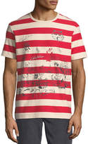 Burberry Fernbridge Striped Graphic T-Shirt