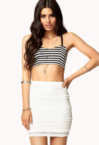 Forever 21 Fitted Lace Skirt
