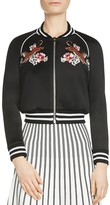 Maje Mercure Embroidered Bomber Jacket