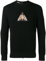 Givenchy patch zipped back sweatshirt - men - Cotton/Polyester - M