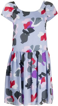 Emporio Armani floral printed mini dress