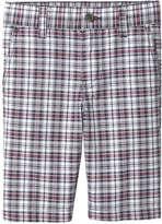 Joe Fresh Kid Boys' Casual Plaid Short, Bordeaux Red (Size M)