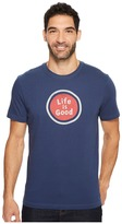 Life is Good Sphere Crusher Tee Men's Short Sleeve Pullover