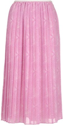 See by Chloe Graphic Printed Pleated Skirt