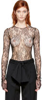 Lanvin Black Lace Bodysuit