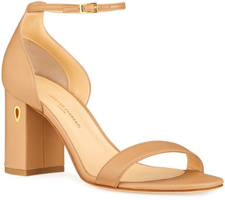 Jennifer Chamandi Massimo 85mm Napa Block-Heel Sandals