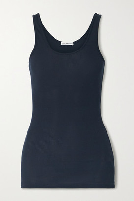 James Perse The Daily Ribbed Stretch-supima Cotton Tank - Navy