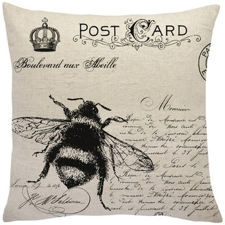 The Watson Shop French Bee Linen Throw Pillow