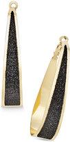 Thalia Sodi Gold-Tone Glitter Oval Hoop Earrings, Only at Macy's