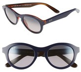 Maui Jim Women's 'Leia' 49Mm Retro Sunglasses - Blue Rootbeer/ Neutral Grey