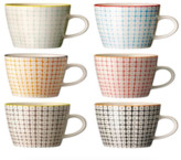 Bloomingville - Set of 6 Multi Color Carla Mug - 9,5x8 | ceramic | red - Red/Red