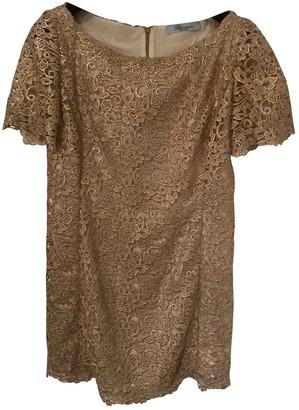 Blumarine Gold Lace Dress for Women