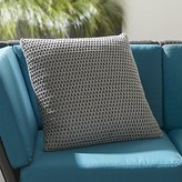 Crate & Barrel Crochet Pillow Grey