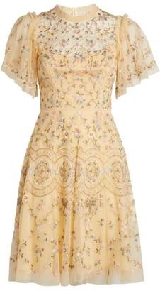Needle & Thread Sweet Petal Embellished Mini Dress