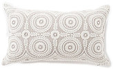 Southern Living Circular-Embroidered Linen Breakfast Pillow
