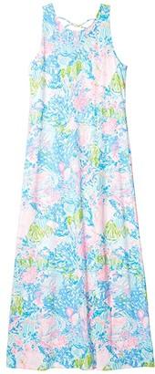 Lilly Pulitzer Marcella Maxi Dress (Multi Fished My Wish) Women's Dress