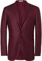 Boglioli Red Slim-Fit Wool Blazer