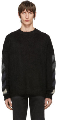 Off-White Off White Black Brushed Diag Sweater