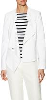 Karen Millen White Cotton Biker Jacket