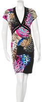Roberto Cavalli Fish Print Cutout-Accented Dress w/ Tags