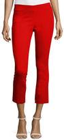 Veronica Beard Calla Lillies Cropped Satin Pants