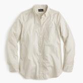 J.Crew Tall lightweight boy shirt in small polka dot