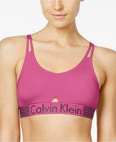 Calvin Klein Iron Strength Low-Impact Logo Bralette QF1537