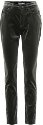 Dolce & Gabbana Velvet straight pants