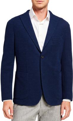Boglioli Men's Solid Jersey Two-Button Jacket