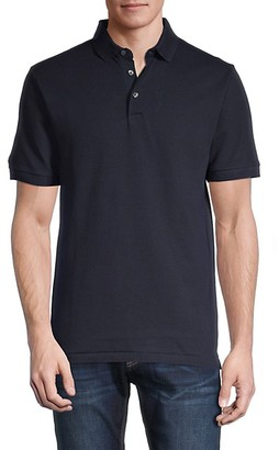 French Connection Three-Button Front Cotton Polo