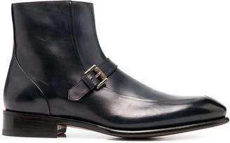 Santoni Ankle Leather Boots