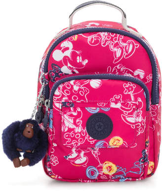 Kipling Alber Disney's Minnie Mouse and Mickey Mouse 3-In-1 Convertible Mini Bag Backpack
