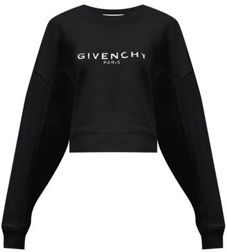 Givenchy Oversized Distressed-logo Cotton-jersey Sweatshirt - Black