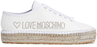 Love Moschino Studded Leather Espadrilles