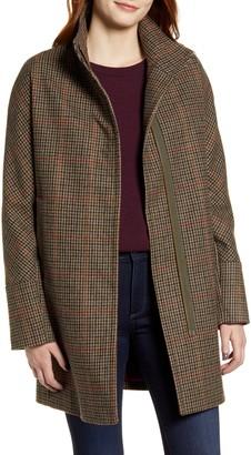 Kristen Blake Plaid Wool Blend Coat