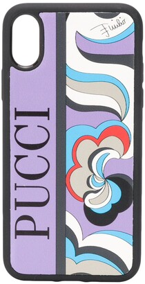 Emilio Pucci x Koche abstract-print iPhone X phone case