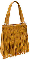 B. Makowsky B.Makowsky Sienna Pebble Leather and Suede Tote with Fringe
