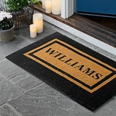 Williams-Sonoma Williams Sonoma Personalized Double Border Doormat