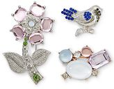 JCPenney Flower, Bird & Stone Cluster 3-pc. Pin Set