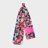 Paul Smith Women's Bright Pink 'Ocean Floral' Print Scarf