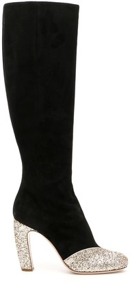 Miu Miu Boots With Glitter Details