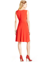 Evan Picone Sleeveless Cowl-Neck Dress
