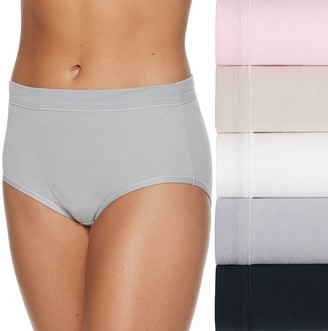 Fruit of the Loom Women's Signature Cotton Stretch 5-Pack + 1 Bonus Low Rise Brief Panty 6DCSSLB