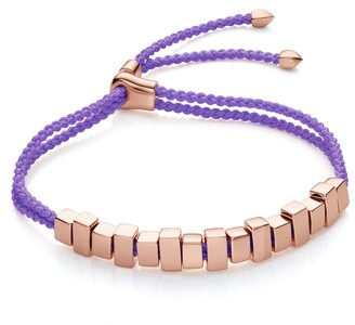 Monica Vinader RP Linear Ingot Lavender Purple Bracelet