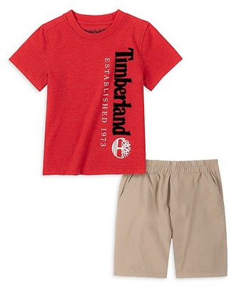 Timberland Little Boy's 2-Piece T-Shirt Shorts Set
