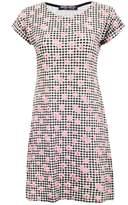 Select Fashion Fashion Womens Orange Mini Daisy Gingham Tunic Dress - size 6